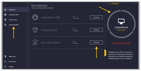 CyberGhost-VPN-dashboard-how-to-watch-in-Canada